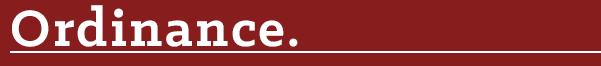 Ordinance title
