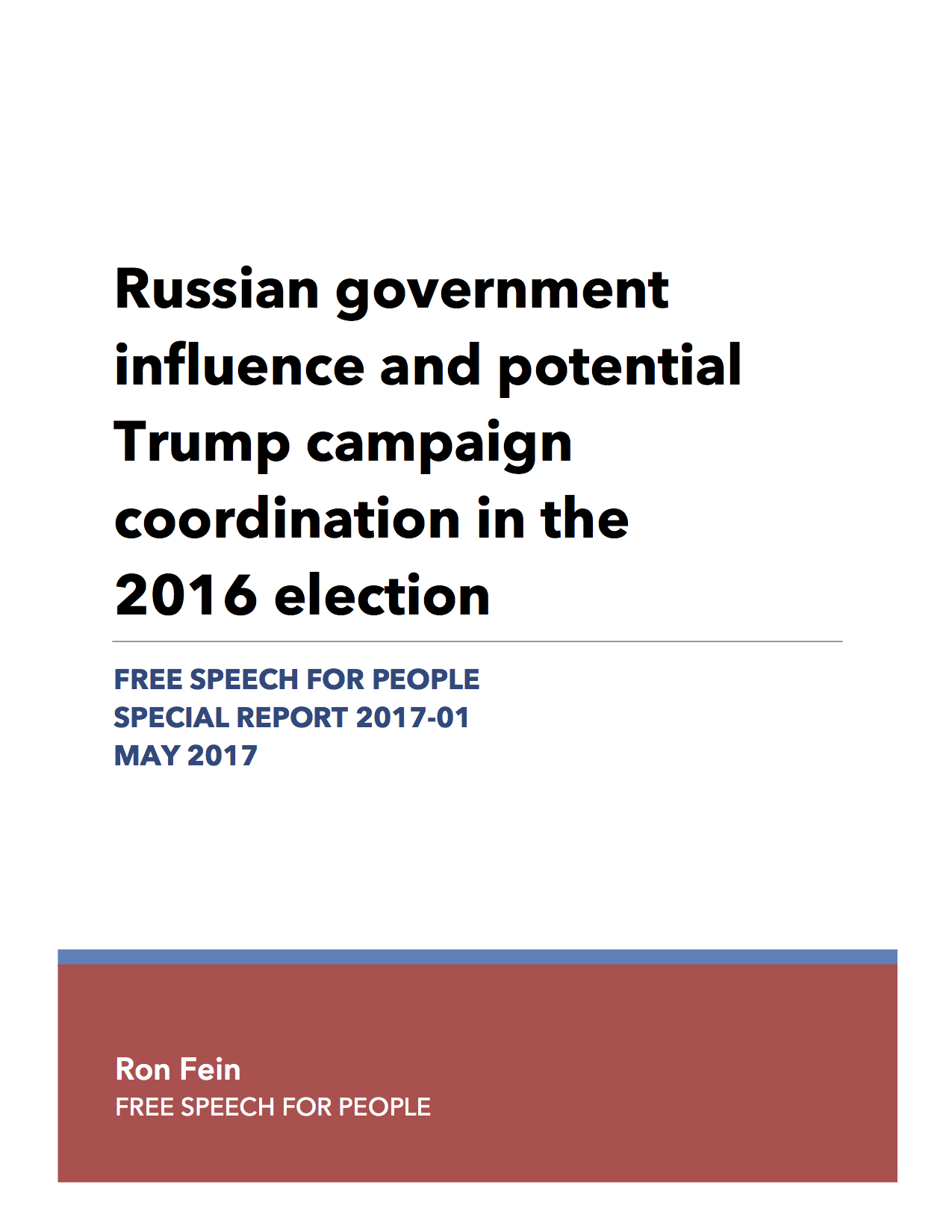 Our New Report: Russian Government Influence & Potential ...